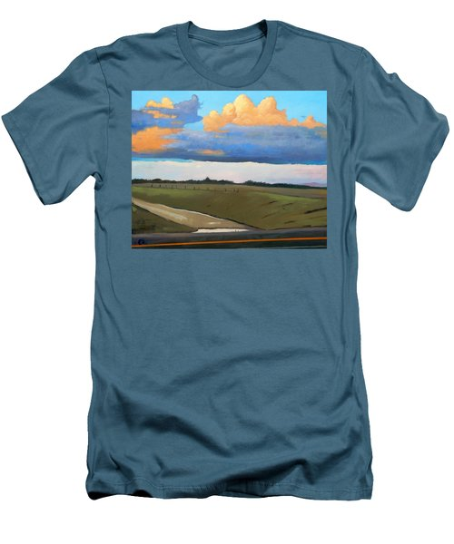 Men's T-Shirt (Slim Fit) featuring the painting After Shower by Gary Coleman