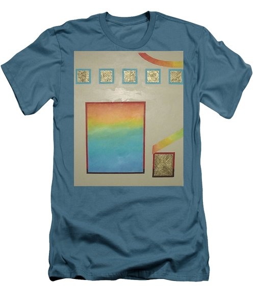 Men's T-Shirt (Slim Fit) featuring the painting After The Rain by Bernard Goodman