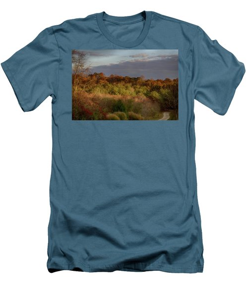 Men's T-Shirt (Slim Fit) featuring the photograph Afternoon Glow In Hocking Hills by Haren Images- Kriss Haren