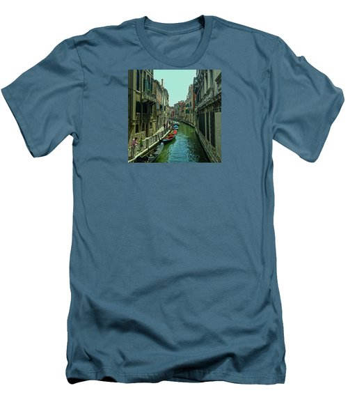 Men's T-Shirt (Athletic Fit) featuring the photograph Afternoon In Venice by Anne Kotan