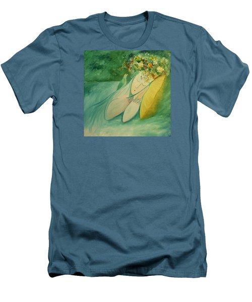 Afternoon Nap In The Garden Men's T-Shirt (Slim Fit) by Tone Aanderaa