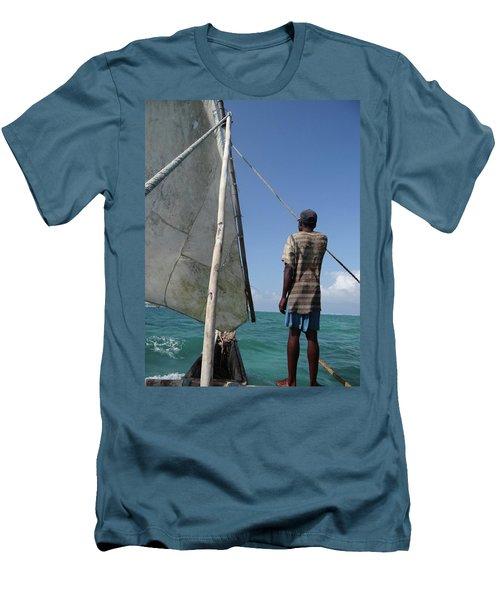 Afternoon Sailing In Africa Men's T-Shirt (Slim Fit) by Exploramum Exploramum