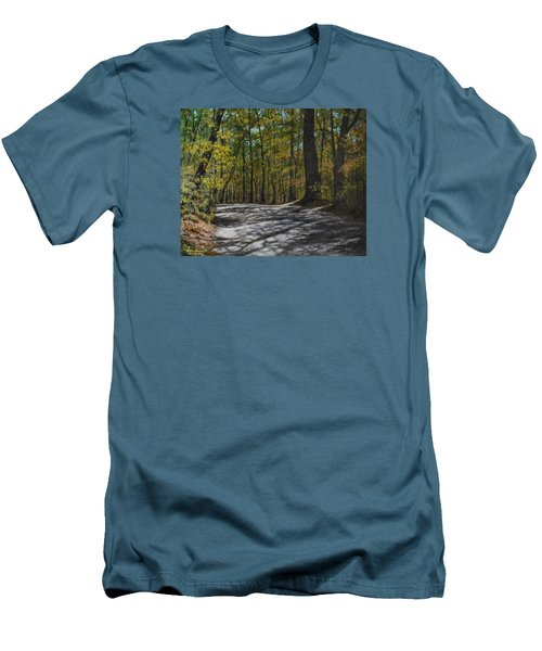 Afternoon Shadows - Oconne State Park Men's T-Shirt (Slim Fit) by Kathleen McDermott