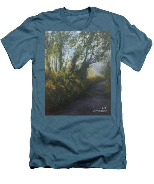 Afternoon Walk Men's T-Shirt (Slim Fit) by Valerie Travers