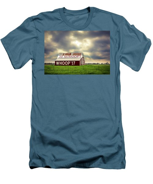 Men's T-Shirt (Athletic Fit) featuring the photograph Aggie Barn by David Morefield