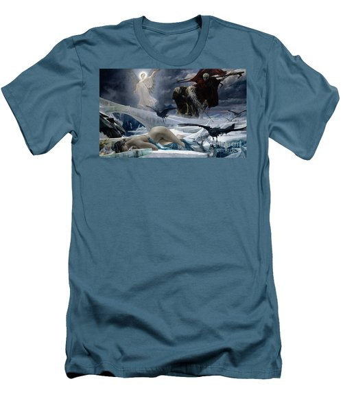 Ahasuerus At The End Of The World Men's T-Shirt (Slim Fit) by Adolph Hiremy Hirschl
