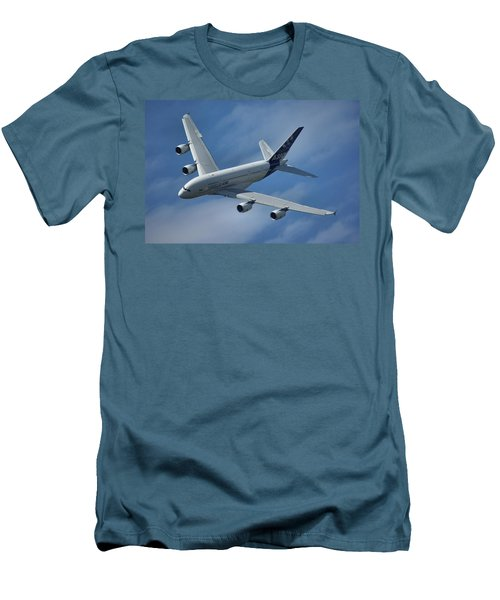 Men's T-Shirt (Slim Fit) featuring the photograph Airbus A380 by Tim Beach