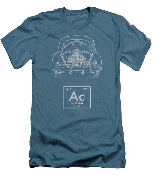 Aircooled Element - Beetle Men's T-Shirt (Slim Fit) by Ed Jackson