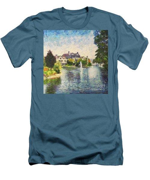 Alameda Marina Village 1 Men's T-Shirt (Slim Fit) by Linda Weinstock