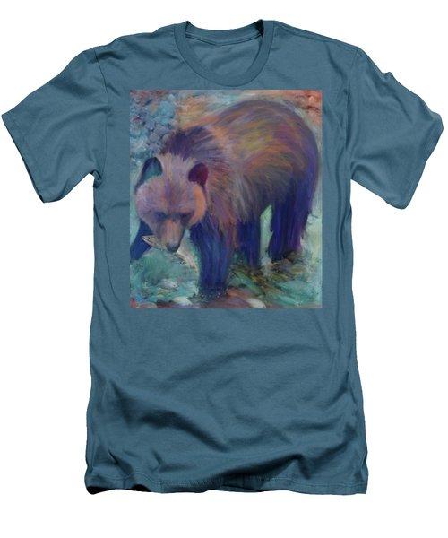 Alaska Bear  Men's T-Shirt (Slim Fit) by Julianne Ososke