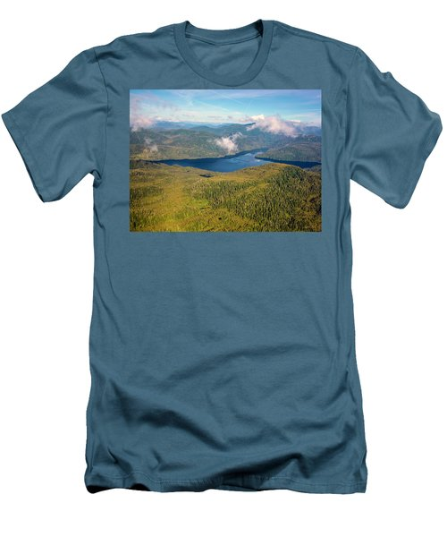 Men's T-Shirt (Slim Fit) featuring the photograph Alaska Overview by Madeline Ellis