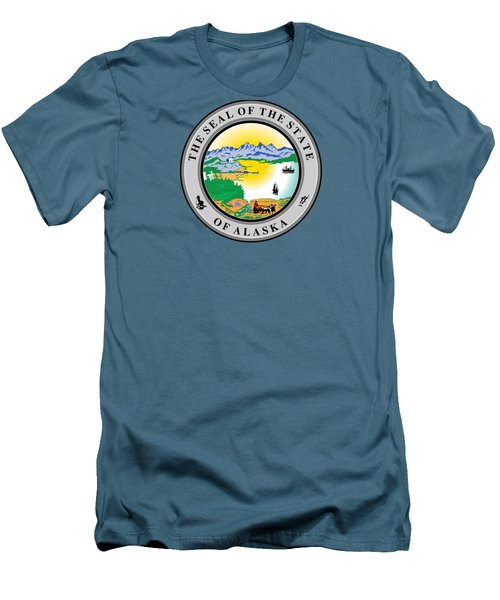 Alaska State Seal Men's T-Shirt (Athletic Fit)