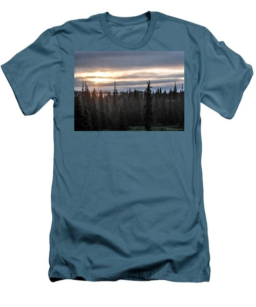 Alaskan Sunset Sunrise Men's T-Shirt (Athletic Fit)