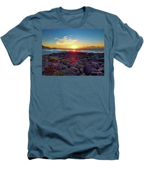 Alassio Sunset Men's T-Shirt (Slim Fit) by Karen Lewis