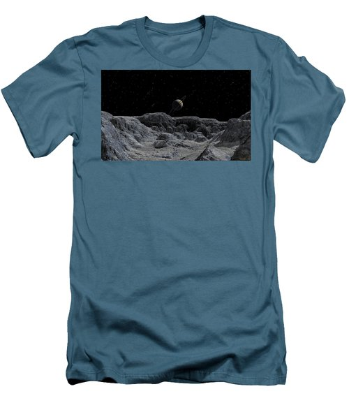 Men's T-Shirt (Slim Fit) featuring the digital art All Alone by David Robinson