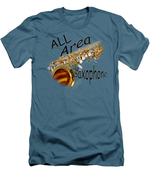 All Area Saxophone Men's T-Shirt (Slim Fit) by M K  Miller