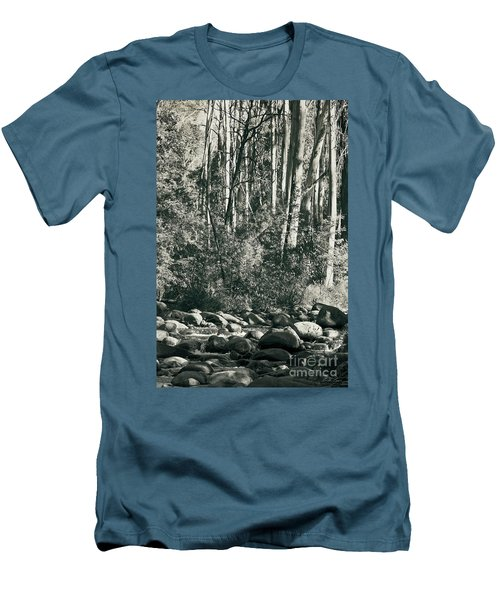 Men's T-Shirt (Slim Fit) featuring the photograph All Was Tranquil by Linda Lees