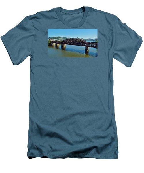 Allegheny Crossing Men's T-Shirt (Slim Fit) by William Bartholomew