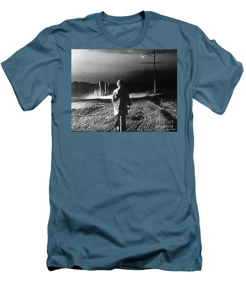 Men's T-Shirt (Slim Fit) featuring the photograph Alone by Lyric Lucas
