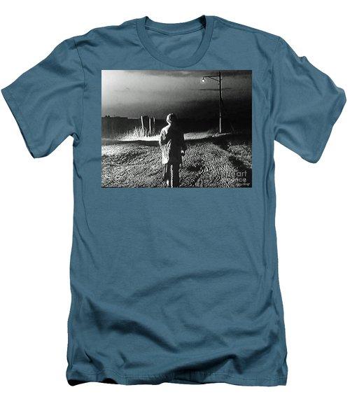 Alone Men's T-Shirt (Slim Fit) by Lyric Lucas