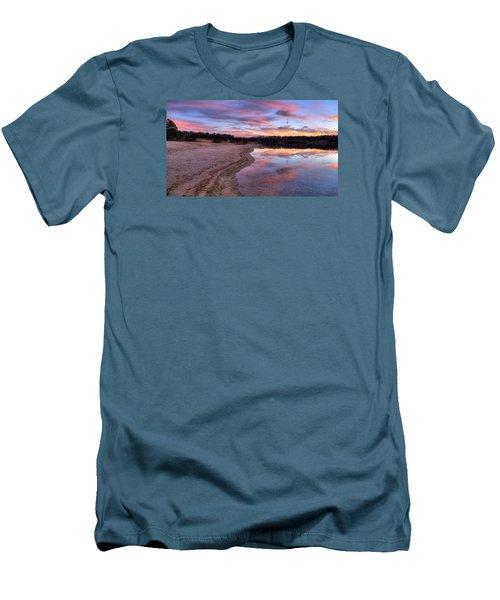 Along The Shoreline Men's T-Shirt (Slim Fit) by John Loreaux
