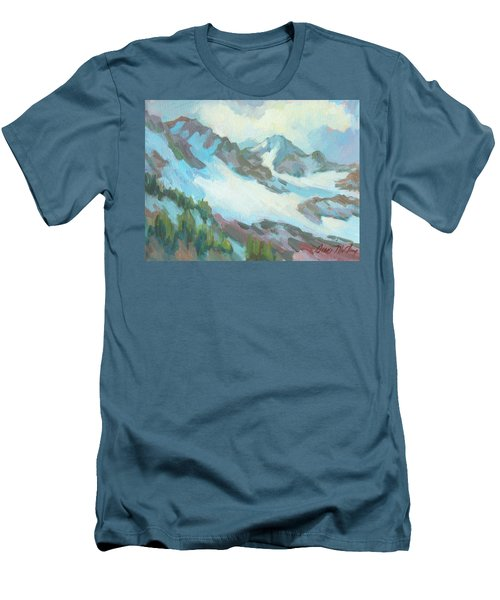 Men's T-Shirt (Slim Fit) featuring the painting Alps In Switzerland by Diane McClary