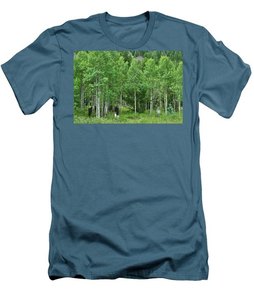 Men's T-Shirt (Slim Fit) featuring the photograph Alvarado Summer by Marie Leslie