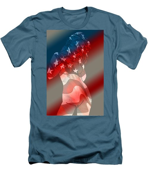 America Men's T-Shirt (Slim Fit) by Tbone Oliver
