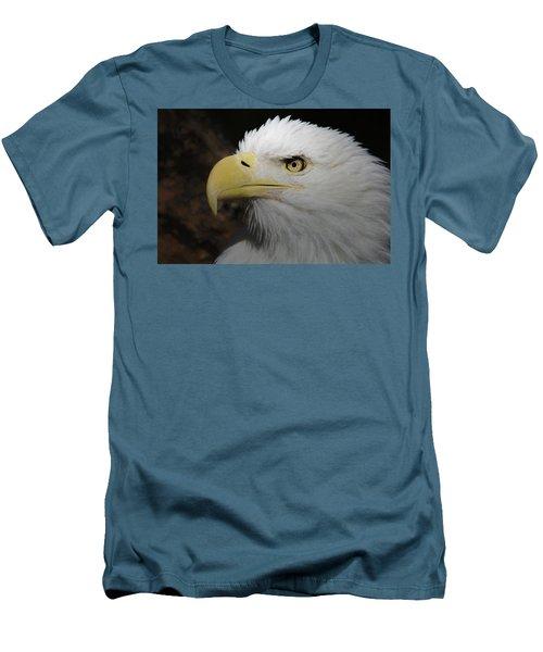 Men's T-Shirt (Slim Fit) featuring the digital art American Bald Eagle Portrait 2 by Ernie Echols
