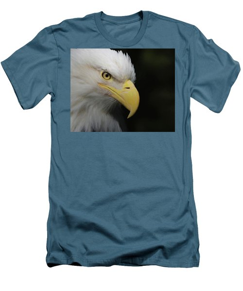 Men's T-Shirt (Slim Fit) featuring the digital art American Bald Eagle Portrait 4 by Ernie Echols