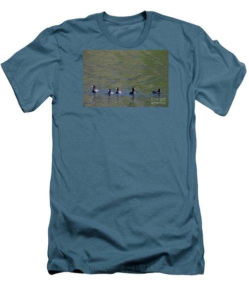American Coots 20120405_280a Men's T-Shirt (Slim Fit) by Tina Hopkins