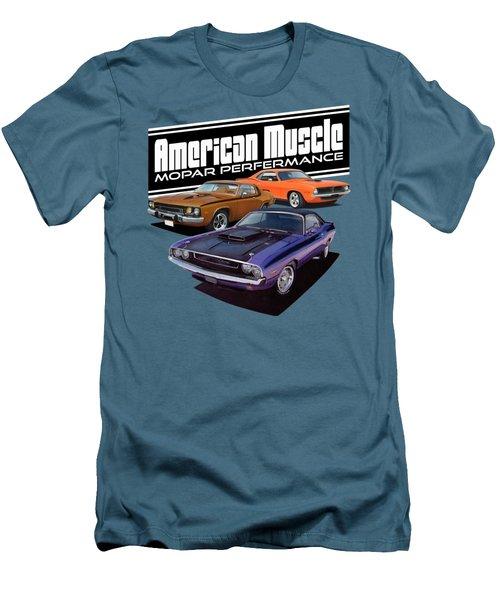 American Mopar Muscle Men's T-Shirt (Slim Fit) by Paul Kuras