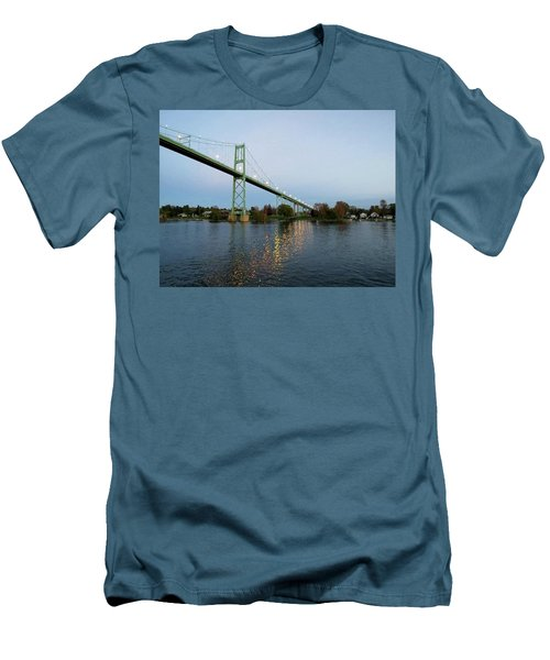 American Span Thousand Islands Bridge Men's T-Shirt (Athletic Fit)