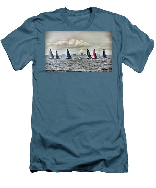 America's Cup Contestants In New York Harbor, May 2016 Men's T-Shirt (Athletic Fit)
