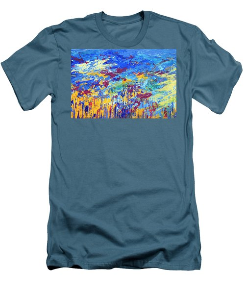 An Abstract Vision Under The Sea Men's T-Shirt (Athletic Fit)