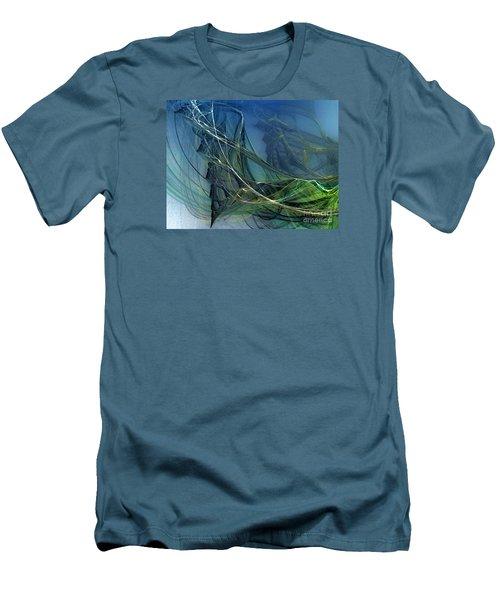 Men's T-Shirt (Slim Fit) featuring the digital art An Echo Of Speed by Karin Kuhlmann