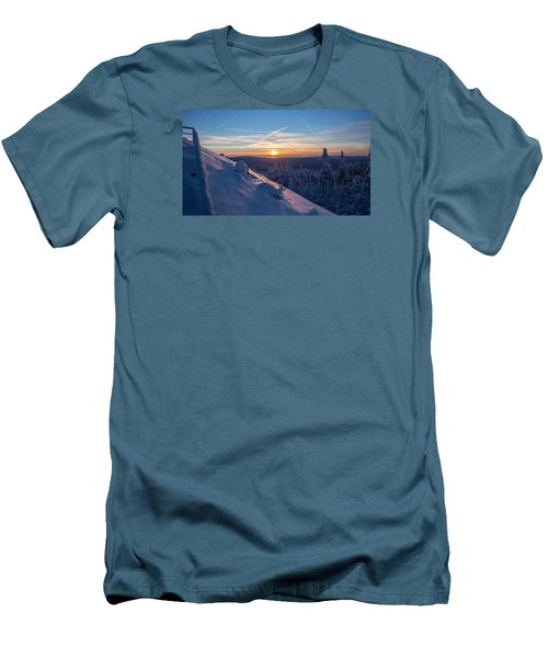 an evening on the Achtermann, Harz Men's T-Shirt (Slim Fit) by Andreas Levi