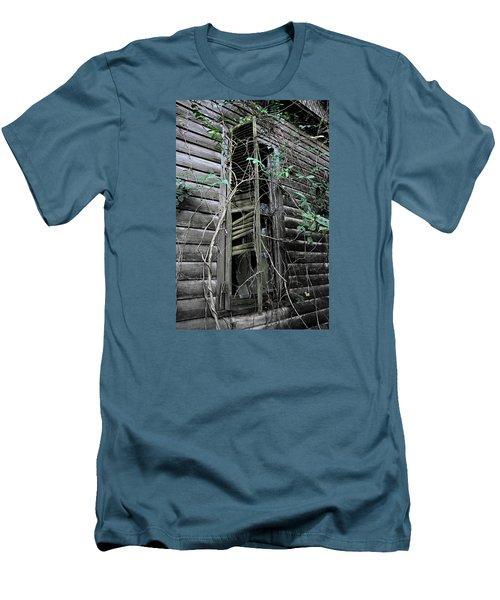 An Old Shuttered Window Men's T-Shirt (Slim Fit) by Lynn Jordan