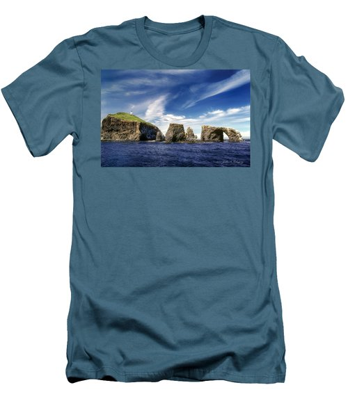 Channel Islands National Park - Anacapa Island Men's T-Shirt (Slim Fit) by John A Rodriguez