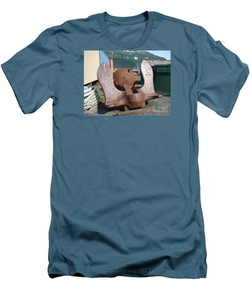 Men's T-Shirt (Slim Fit) featuring the photograph Anchor by Lew Davis