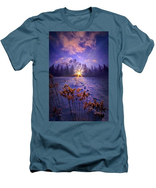 Men's T-Shirt (Slim Fit) featuring the photograph And Back Again by Phil Koch