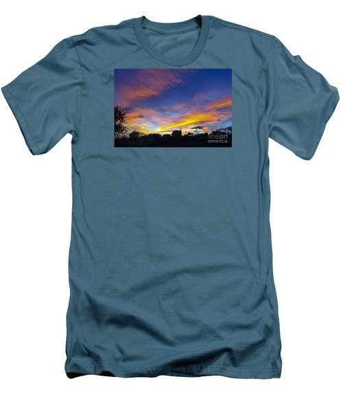 Andalusian Sunset Men's T-Shirt (Slim Fit) by Perry Van Munster