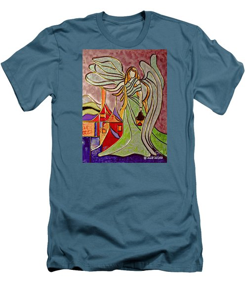 Men's T-Shirt (Slim Fit) featuring the painting Angel  by AmaS Art