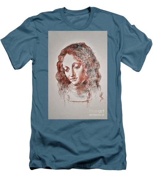 Angel Madonna Men's T-Shirt (Slim Fit) by Maja Sokolowska