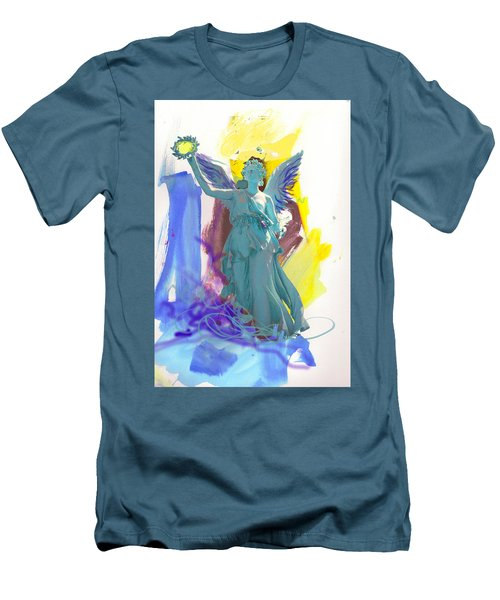 Angel, Victory Is Now Men's T-Shirt (Slim Fit) by Amara Dacer