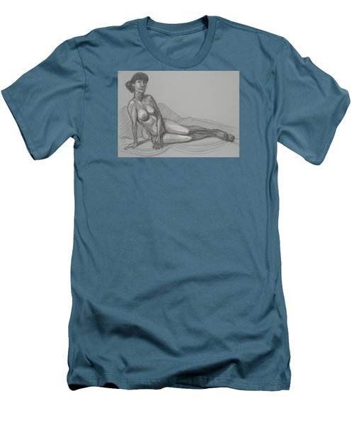 Angela Reclining   Men's T-Shirt (Slim Fit) by Donelli  DiMaria