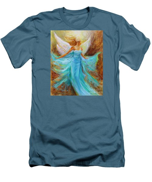 Angelic Rising Men's T-Shirt (Slim Fit) by Jennifer Beaudet
