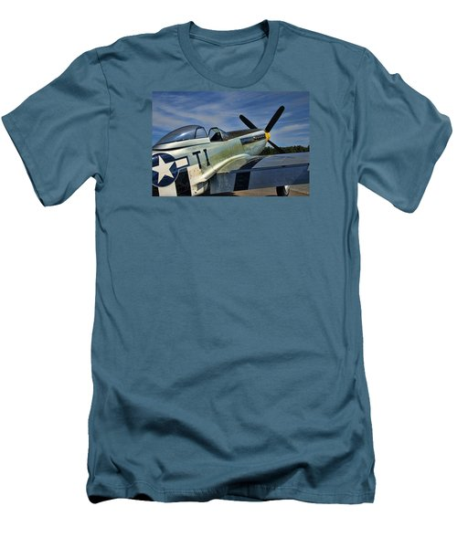 Men's T-Shirt (Slim Fit) featuring the photograph Angels Playmate P-51 by Steven Richardson