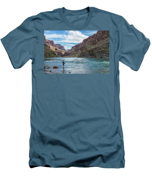 Angling On The Colorado Men's T-Shirt (Slim Fit) by Alan Toepfer