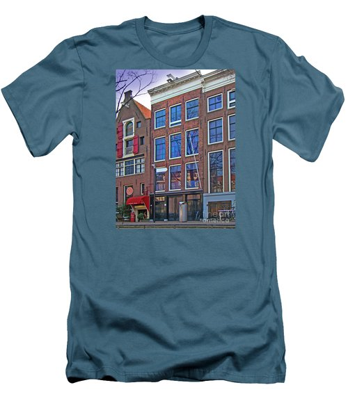Anne Frank Home In Amsterdam Men's T-Shirt (Slim Fit) by Al Bourassa